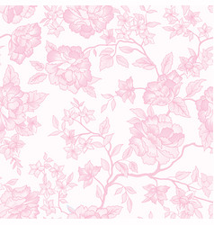 Floral seamless pattern pink flower background vector
