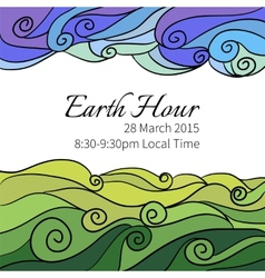 for Earth Hour Aannual International vector image