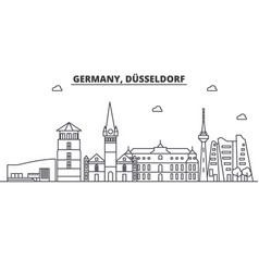 Germany dusseldorf architecture line skyline vector