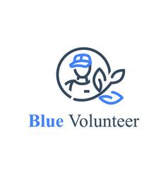 global volunteering save world eco program vector image