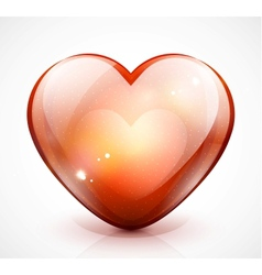 Glossy valentine heart vector image