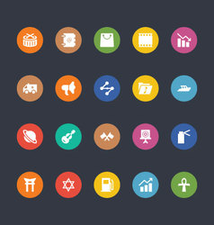 Glyphs Colored Icons 32 vector