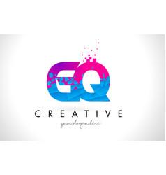 gq g q letter logo with shattered broken blue vector image