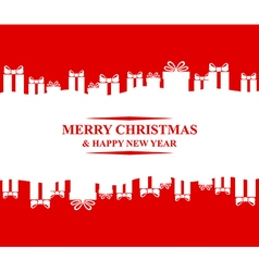 greeting gift vector image