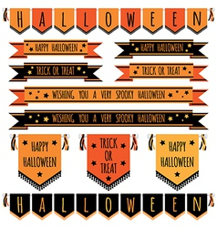 Halloween ribbons vector