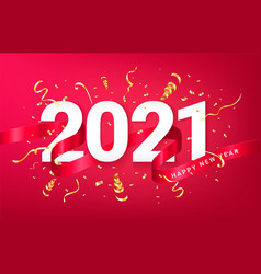 Happy new 2021 year festive background card vector