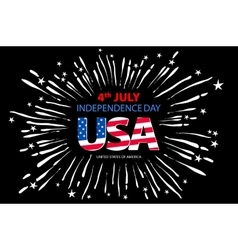 Independence day concept 4th July independence vector image
