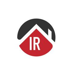 Initial letter ir building logo design template vector
