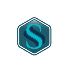 Initial letter s shield secure safe secret strong vector
