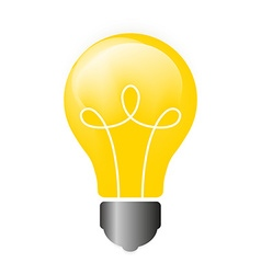 Lightbulb isolated icon pictograph vector