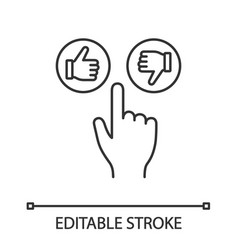 like and dislike buttons click linear icon vector image