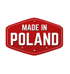 made in poland label or sticker vector image
