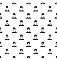 Male avatar sweat pattern simple style vector image