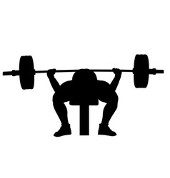 Male powerlifter bench press vector