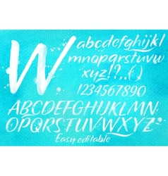 Modern alphabet blue background vector image