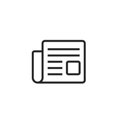 newspaper flat icon news symbol logo vector image