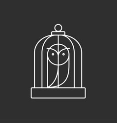 owl in a cage magic icon vector image