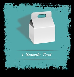Paper art box vector image