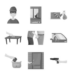 Pickpocket and fraud icon vector