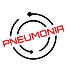 Pneumonia typographic stamp vector