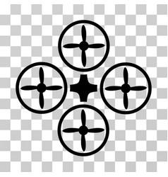 quadcopter icon vector image