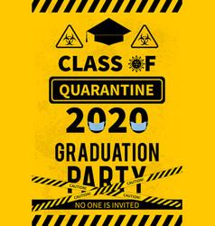 Quarantine class 2020 sign social distancing vector