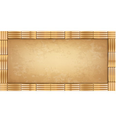 rectangle brown bamboo sticks border with old vector image