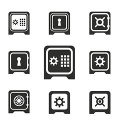 Safe icon set vector image