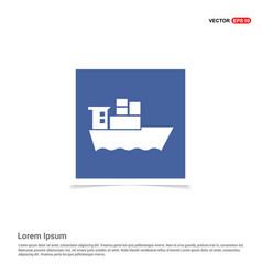 Sea ship icon - blue photo frame vector