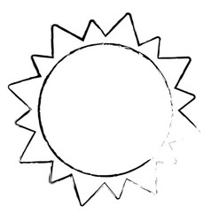 Sun solar system astrology sketch vector