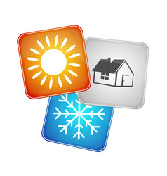 symbol the air conditioner business vector image