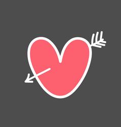 valentine s day design element hand drawn element vector image
