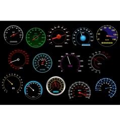 Various speedometers set vector image