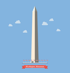 Washington monument in flat style vector