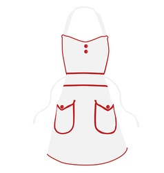 White apron vector