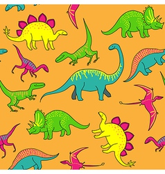 Dinosaurs pattern vector image vector image