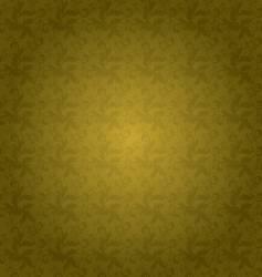 golden floral tile vector image vector image