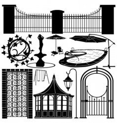 home garden objects vector image vector image