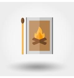 Match box icon vector image vector image