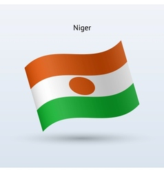 Niger flag waving form vector image