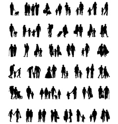 people which walk vector image