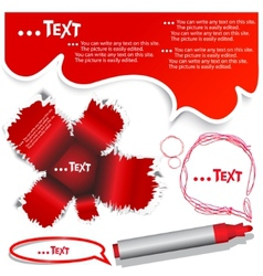 red bubble for speech vector image vector image
