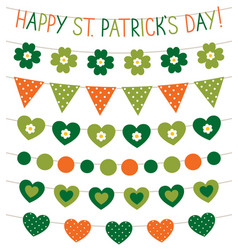 st patricks day banners vector image