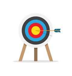 target arrow and bullseye symbol vector image