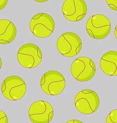 Tennis ball seamless pattern Sports accessory vector image vector image