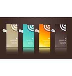 Four separate gift cards with circles vector image vector image