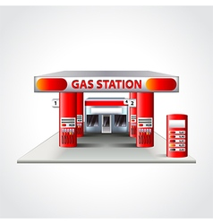 Gas station building isolated vector image vector image