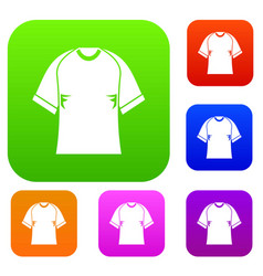 raglan tshirt set color collection vector image