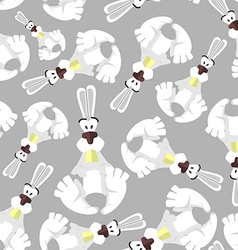 Seamless pattern with bunnies Background of vector image vector image