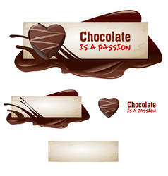 set of chocolate banners vector image vector image
